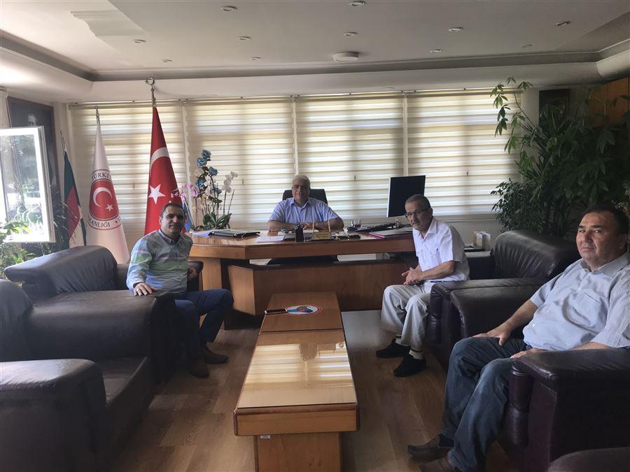Toprak Mahsulleri Ofisi İskenderun Şube Müdürü Sn.Mehmet Bülent FERMANLI Bölge Müdürlüğümüzü ziyaret etti.