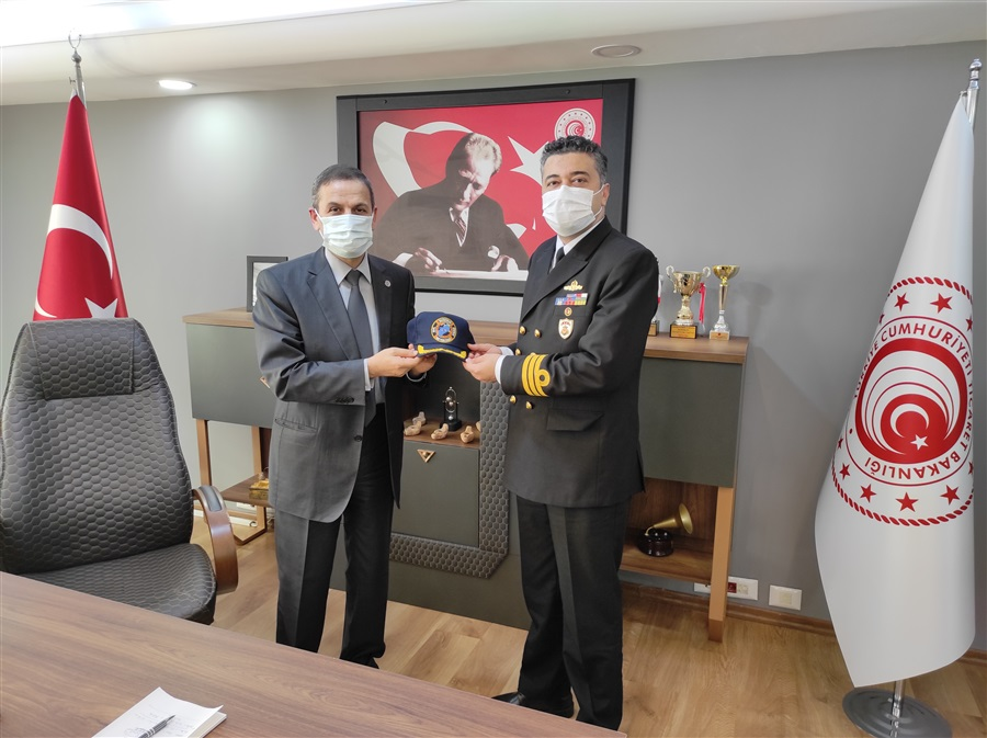 İskenderun Sahil Güvenlik Grup Komutanı Sg.Kd.Bnb. Oğuz Emre ÇİÇEK'in ziyareti