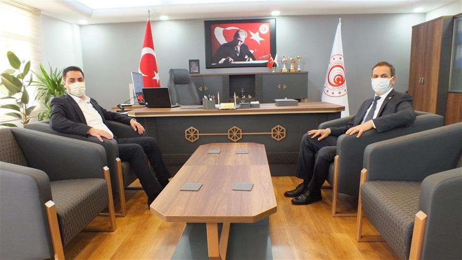 Vali Yardımcısı Sn. Orhan AKTÜRK' ten Bölge Müdürlüğümüze ziyaret.